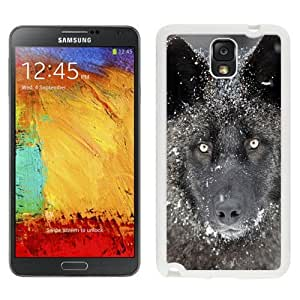 NEW Unique Custom Designed Samsung Galaxy Note 3 N900A N900V N900P N900T Phone Case With Wolf Eye Contact_White Phone Case