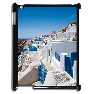DIYYuli(RM) Unique Design Custom Santorini Greece Hard Back Cover Case for Ipad 2,3,4 - KkUi049644