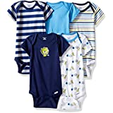 Gerber Baby Boys' 5-Pack Short-Sleeve Onesies