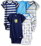 new baby boy clothes - Gerber Baby Boys' 5 Pack Onesies, Safari, 0-3 Months