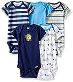 onesies pack - Gerber Baby Boys' 5 Pack Onesies, Safari, 0-3 Months