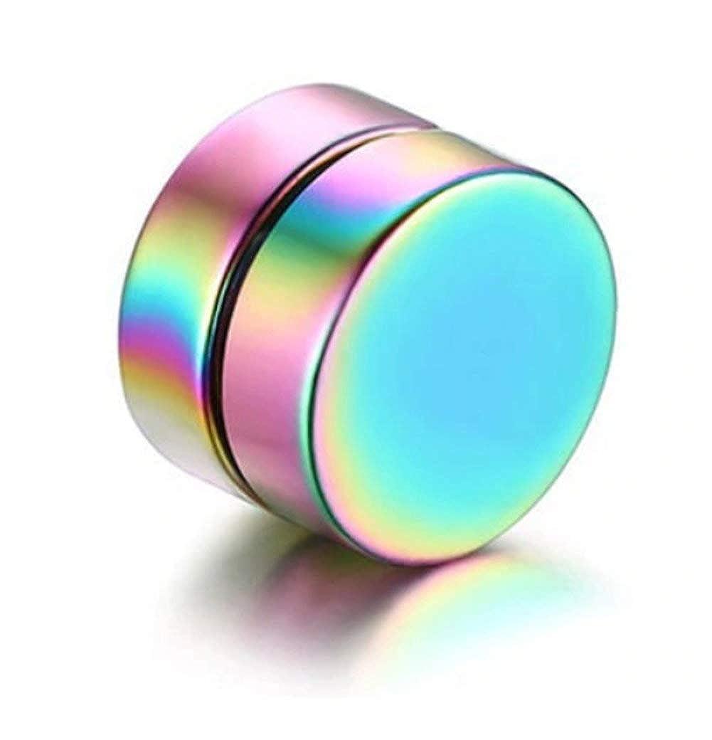 Herren//M/änner Fake-Piercing Plug EROSPA/® Ohrringe Magnetisch Rund Multicolor