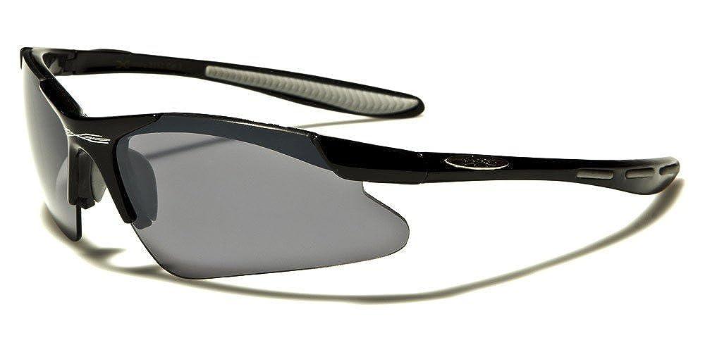 X-Loop Lunettes de Soleil - Sport - Cyclisme - Ski - Conduite - Moto -  Taille Unique Adulte Protection 100% UV400 Xloop 3550 Gris Clair c4182ff49443