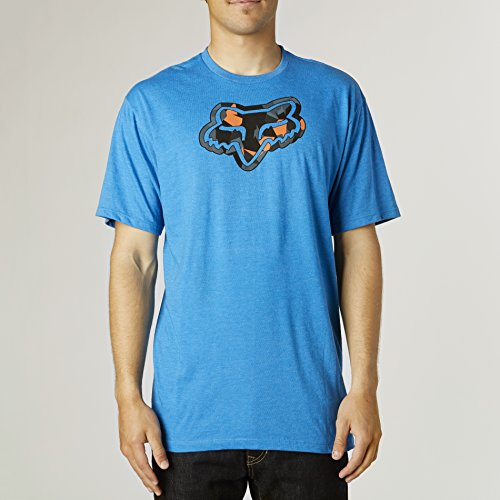 Fox Racing Mens Granger Short-Sleeve Shirt Medium Heather Blue