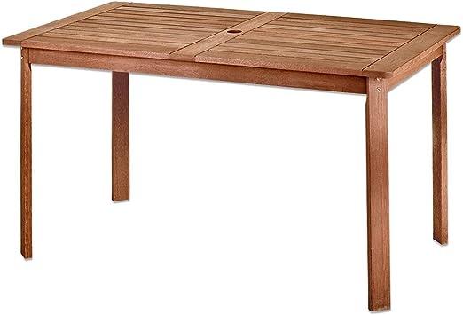 Mesa de Comedor para jardín de Madera marrón Garden - LOLAhome: Amazon.es: Jardín