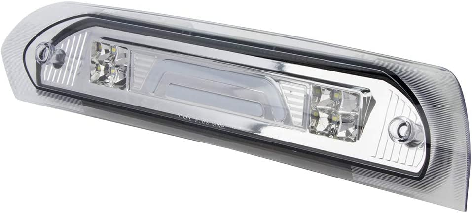 LED Third 3rd Brake Light Waterproof Third Brake Light Cargo Light Chrome Housing+Clear Lens Perfect replacement for 02-09 DODGE RAM