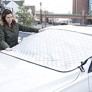 "Glare Guard Premium Snow Windshield Cover by Snow, Ice, Sleet, hail & Frost Protection | Universal 80"" x 40"" frost-guard fits Cars, Trucks & SUV's …2 PACK"