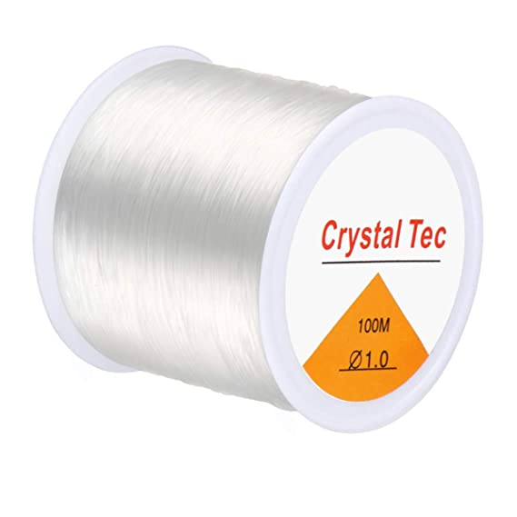 Clear Crystal Nylon Cord String Wire Beading Thread Fishing Line S3
