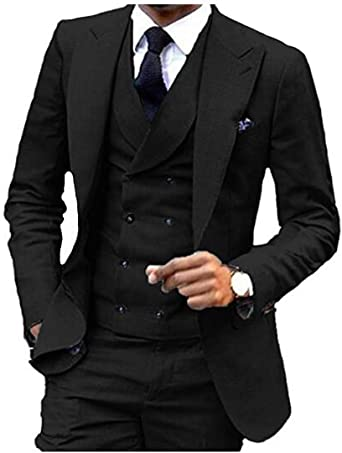 Tsbridal Casual Men Suits Slim Fit Groom Groomsman Blazer Suits for Men 2 Piece