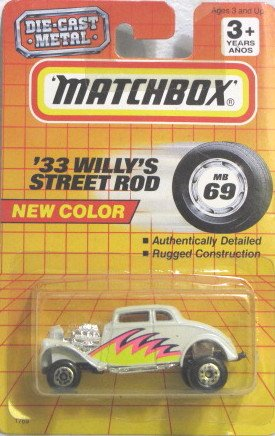 Matchbox '33 WILLY'S STREET ROD' #MB69 1993 very Rare by Matchbox