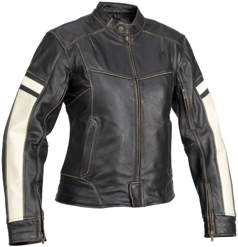 - River Road Dame Leather Womens Jacket , Gender: Womens, Size: XL, Apparel Material: Leather, Primary Color: Black, Distinct Name: Black XF09-4857