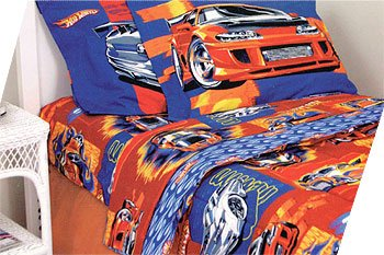Amazon.com: Hot Wheels Turbo Boost   4pc Bed Sheet Set   Full/Double Size  Bedding: Home U0026 Kitchen