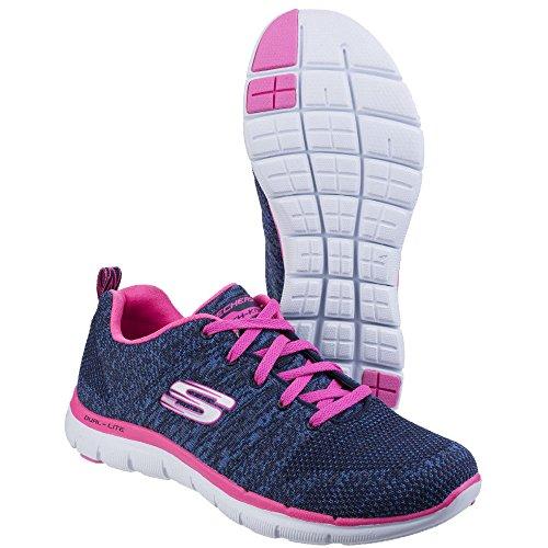 Skechers Damen Flex Appeal 2.0 High Energy Low-Top Navy / Hot Pink