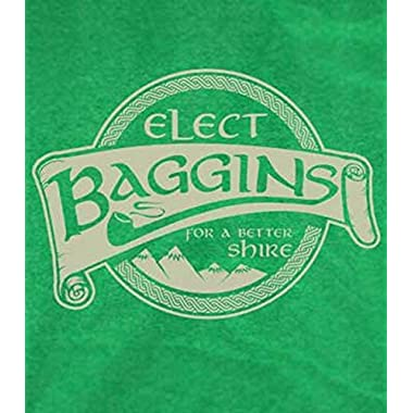 Elect Baggins T-Shirt-Funny Lord of the Rings Shirt-Medium-Heather Kelly