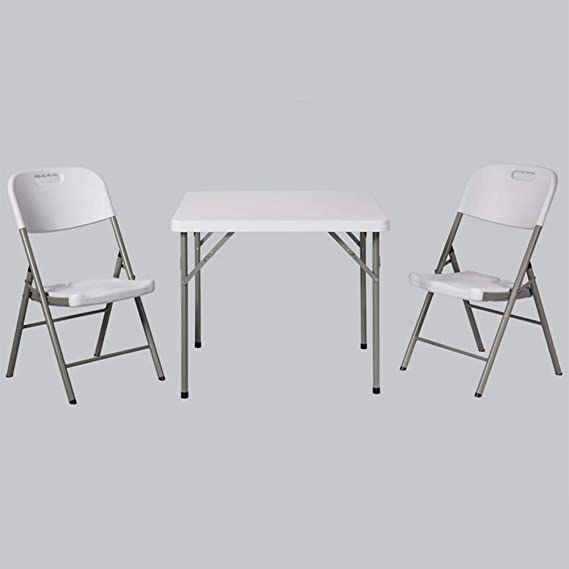 Mesas Plegables Sillas Taburetes Cuadrado Plástico Cocina Partido, Picnic Jardín Cámping Multipropósito CJC (Color : 1 Folding Table+2 Chairs): Amazon.es: Hogar