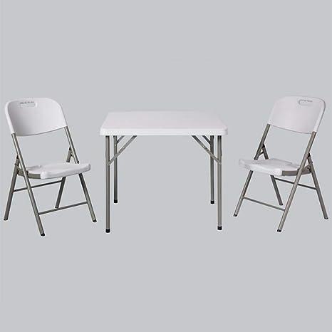 Amazon.com: Muebles de salón mesa plegable sillas taburetes ...