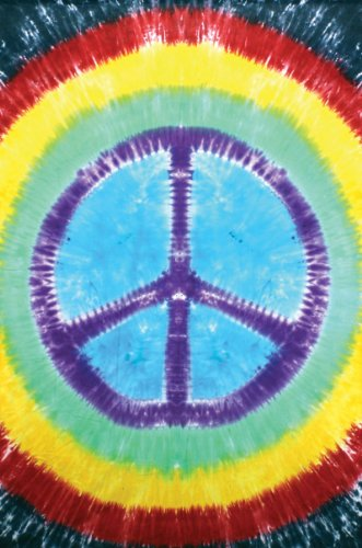 - Rainbow Tie-Dye Peace Sign Tapestry Dorm Wall Hanging 60x90