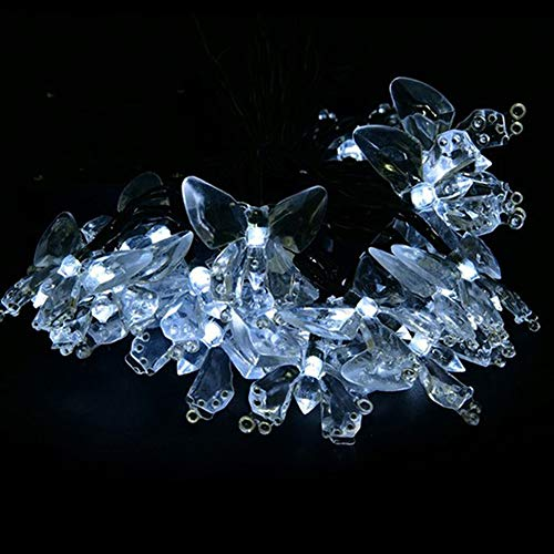 WDDH Solar Powered Butterfly Lights,30LED Outdoor Multi Color Fairy String Lights for Garden,Lawn,Patio,Wedding,Party,Bedroom by WDDH (Image #1)