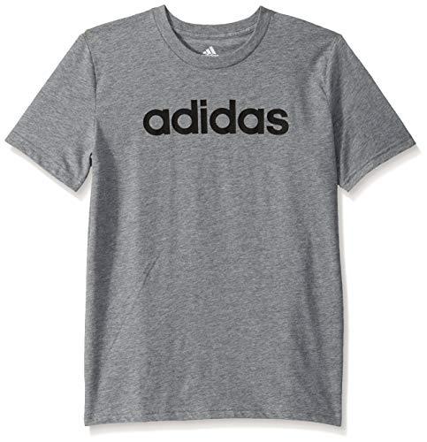 adidas Boys Big Short Sleeve Cotton Jersey Logo T-Shirt