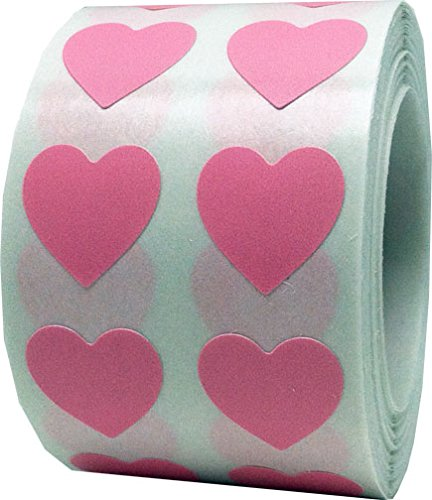 Party Supplies Salt Lake City Utah (Pink Heart Stickers For Valentine's Day Crafting Scrapbooking 1/2 Inch 1,000 Adhesive Stickers)