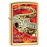 The Great Wall of China Zippo Outdoor Indoor Windproof Lighter Free Custom Personalized Engraved Message Permanent Lifetime Engraving on Backside
