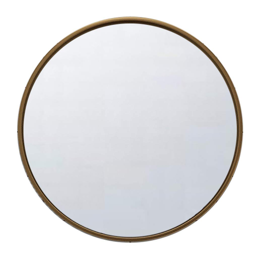 40CM Vanity Mirror Bathroom Metal Frame Round Wall Mirror 30CM (12Inch) Makeup Shave Shower Decorative Mirror for Entry Bedroom Livingroom