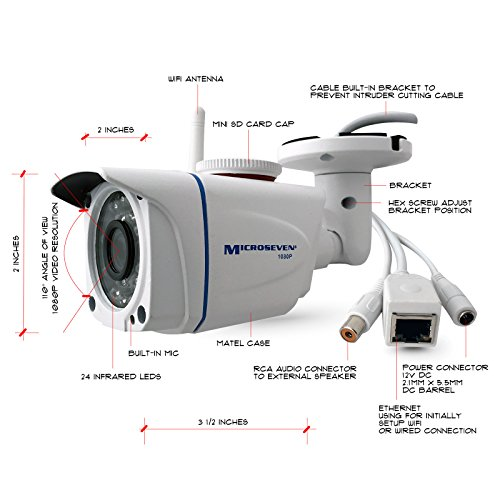 wireless bullet camera with audio - 2