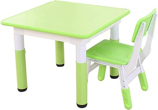 ZH Juego de Mesa de Actividades para niños y 2 sillas, Escritorio ...