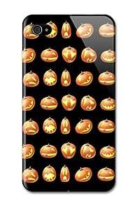 Case Fun Apple iPhone 4 / 4S Case - Vogue Version - 3D Full Wrap - Halloween Pumpkin Faces