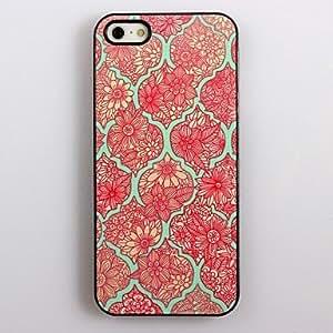 iPhone 5S Case, WKell Elegant Flower Pattern Aluminum Hard Case for iPhone 5/5S