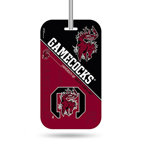 NCAA South Carolina Fighting Gamecocks  Crystal View Team Luggage Tag, Red, 7.5-inches by 3-inches by 0.5-inch