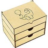 Azeeda 'Dinosaur With Balloon' Vanity Case / Makeup Box (VC00000248)