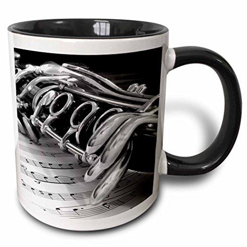 3dRose 4107_4 Clarinet Mug, 11 oz, Multicolor