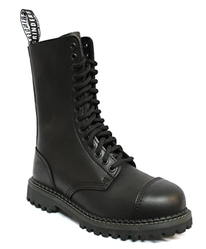 c5060ea400259b Grinders Herald 2015 Matte Finish Black Unisex Safety Steel Toe Cap  Military Punk Boots 3