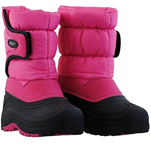 Khombu Snow Trekker Little Kid/Big Kid Pink Black Snow Boots, 13 (Trekker Sneaker)