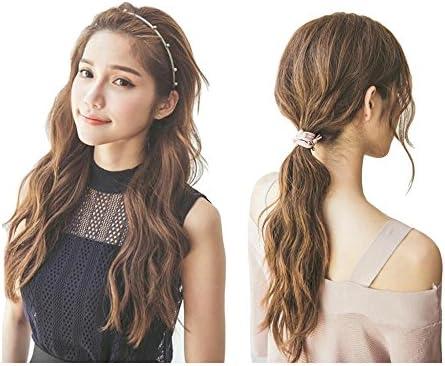 [해외]YUKOKOTI 헤어 밴드 카 츄 샤 헤어 고무 다용도 레이디스 세 펄 簡約 사무실 출퇴근 멋쟁이 사랑 (04 검정) / YUKOKOTI Hair Band Katyusha Hair Rubber Heavy Use Women`s Thin Pearl Simplified Office Commuting Fashion Cute (04 Black)
