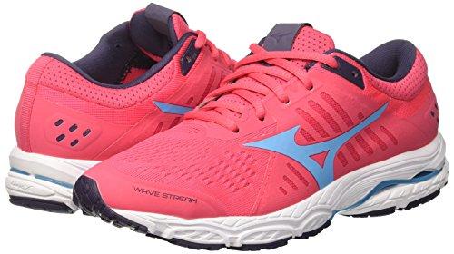 Chaussures 23 Pour Wos Wave Graystone Femmes Multicolore Stream Aquarius De Mizuno divapink Course 1q14r