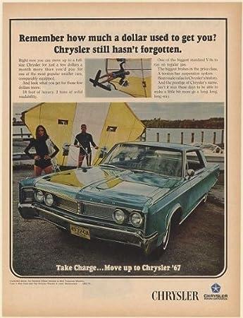 1967 Chrysler Newport 4-Door in Mist Turquoise Metallic Water Hang Gliders Print Ad ( & Amazon.com: 1967 Chrysler Newport 4-Door in Mist Turquoise Metallic ...