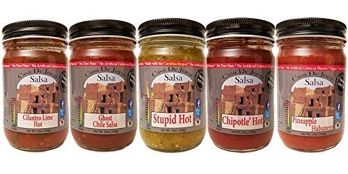 Casa De Jorge Gourmet Salsa Tongues of Fire 5-12 oz Jars Gift Set