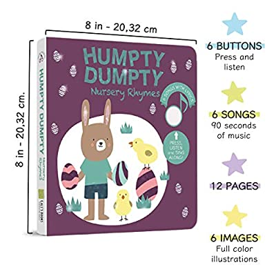 Cali's Books Humpty Dumpty Nursery Rhymes -Best Interactive and Educational Easter Basket Stuffers Toy for Babies and Toddlers Girls and and Boys Ages 1-4. Easter Gift for Children: Toys & Games