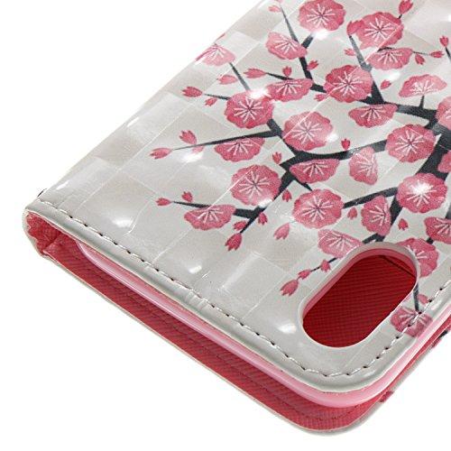 Vandot PU Funda Flip Case para iPhone X / iPhone10 Caso de Cuero con la Función del Soporte Pintado Cubierta Caja Protectora de la Teléfono para móvil iPhone X / iPhone 10 5.8 + 1x Metal Stylus Pen + DZCH3-3
