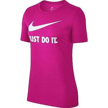 Nike W NSW Crew JDI SWSH HBR Camiseta, Mujer, (Watermelon/White)