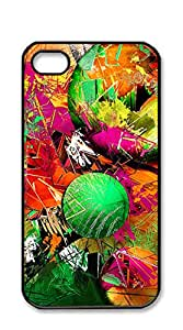 NBcase Abstract Neon Ink hard PC iphone 4 case for girls