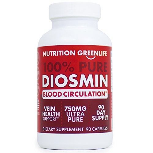 100% Pure DIOSMIN Pure Ingredient no Mixes or Additives for Blood Circulation, Leg Veins Health, Purity Guarantee Best Quality 60 Capsules Review