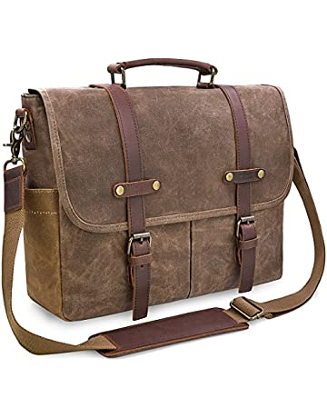 Newhey Mens Laptop Shoulder Canvas Messenger Bag Waterproof Computer  Briefcase Notebook Vintage Satchel Designer School Work f51dc6a350f76