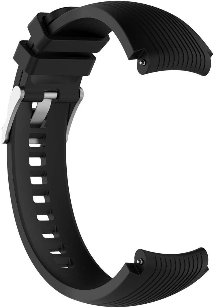 Lokeke - Correa de silicona de repuesto para Samsung Galaxy Watch (46 mm), Samsung Gear S3 SM-R380 SM-R381 SM-R382 (silicona), color negro