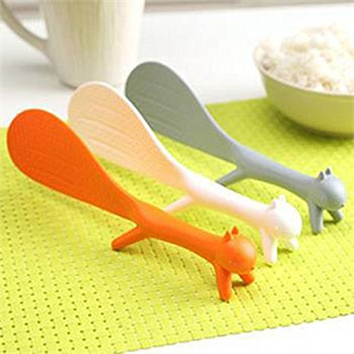 Organic Food Bar Organic Brown Rice (Ayutthaya shop 2 PCS Lovely Kitchen Supplie Squirrel Shaped Ladle Non Stick Rice Paddle Meal Spoon. Random Color)