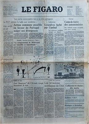 FIGARO (LE) du 22-08-1975 SOMMAIRE - ARTS - BOURSE DE PARIS - BRIDGE - CARNET DU JOUR - COURSES - ECHECS - ECONOMIE - ETRANGER - FEUILLETON - GASTRONOMIE - INFORMATIONS GENERALES - JOURNEE - LETTRES - LOTERIE - MESSAGES TOURISTES - METEOROLOGIE - MOTS CRO