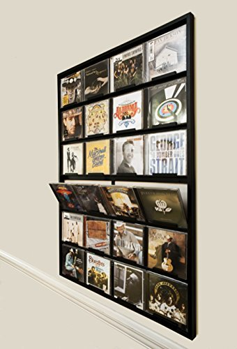 - Cd Gallery Holds 24 Cds Wall Mounted Black