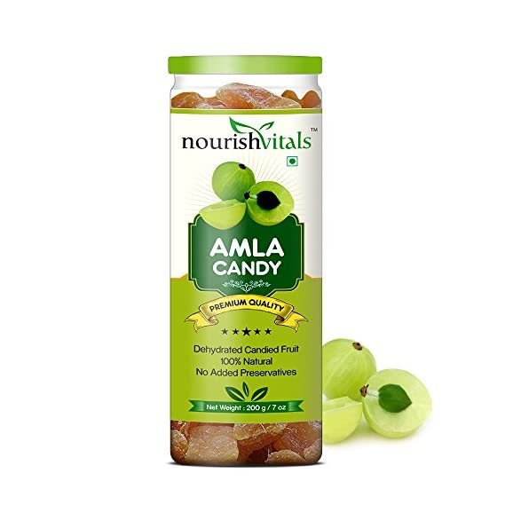 Nourish Vitals Amla Dried Dehydrated Fruits - 200 Gm